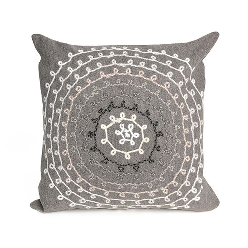 Liora Manne Visions II Grey Square 20 In. Indoor/Outdoor Pillow
