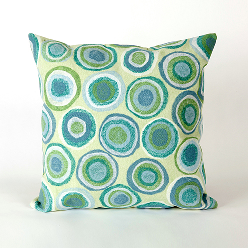 Liora Manne Visions II Green Square 20 In. Indoor/Outdoor Pillow