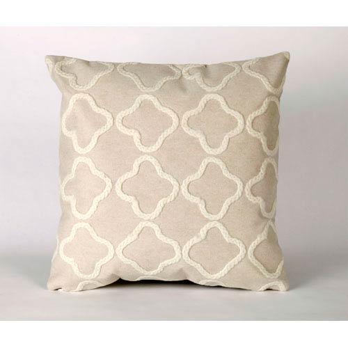 Trans Ocean Import Crochet Tile White Pillow