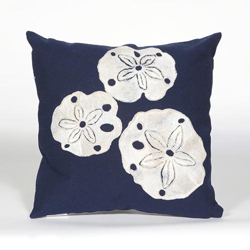 Trans Ocean Import Liora Manne Visions II Navy Square 20 In. Indoor/Outdoor Pillow