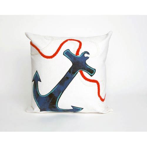 Trans Ocean Import Anchor White Pillow