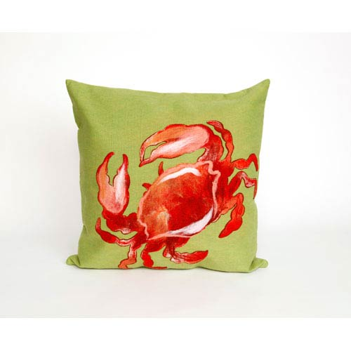 Trans Ocean Import Crab Red Pillow