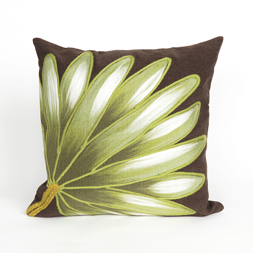 Liora Manne Visions II Brown Square 20 In. Indoor/Outdoor Pillow