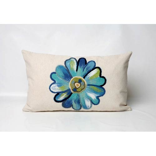 Trans Ocean Import Daisy Aqua Pillow