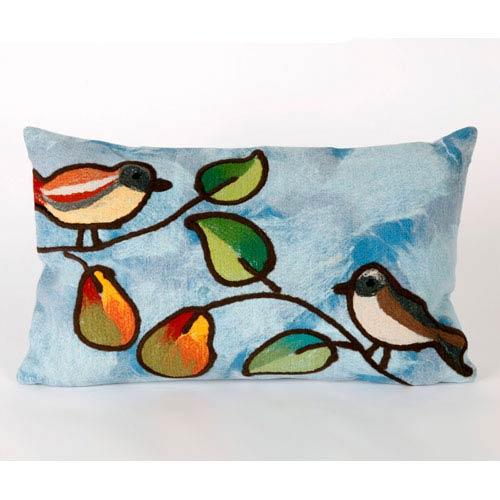 Trans Ocean Import Song Birds Blue Pillow