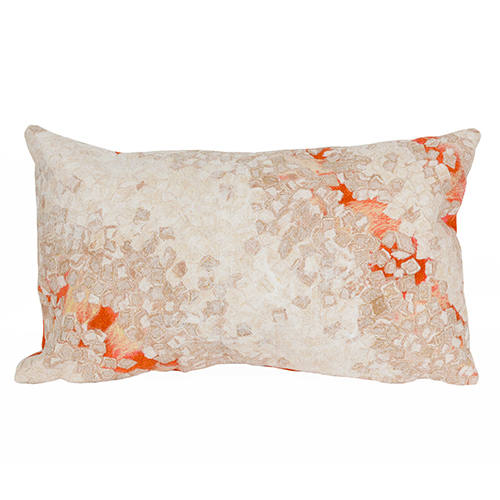 Liora Manne Visions III Orange Rectangular 12 x 18 In. Indoor/Outdoor Pillow