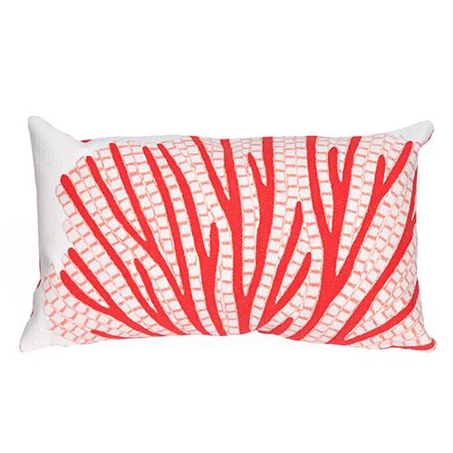 Liora Manne Visions III Orange Rectangular 12 x 18 In. Indoor/Outdoor Pillow