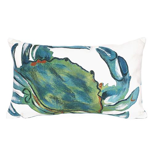 Trans Ocean Import Liora Manne Visions III Blue Rectangular 12 x 18 In. Indoor/Outdoor Pillow