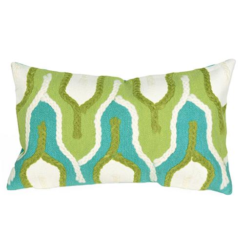 Liora Manne Visions III Green Rectangular 12 x 18 In. Indoor/Outdoor Pillow