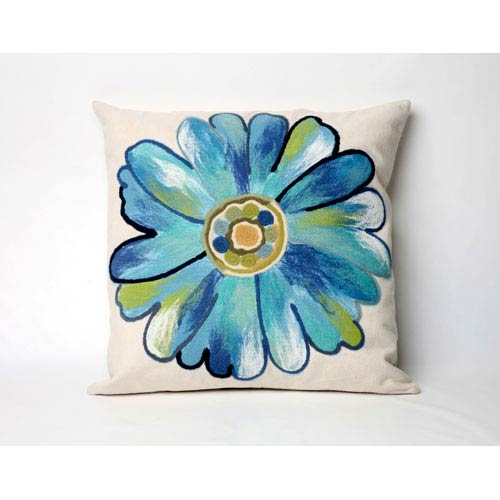 Trans Ocean Import Daisy Aqua Pillow