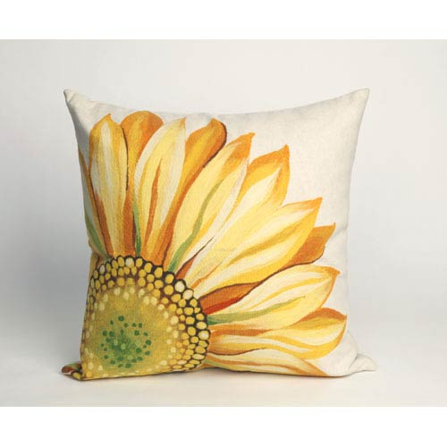 Trans Ocean Import Sunflower Yellow Pillow 20x20