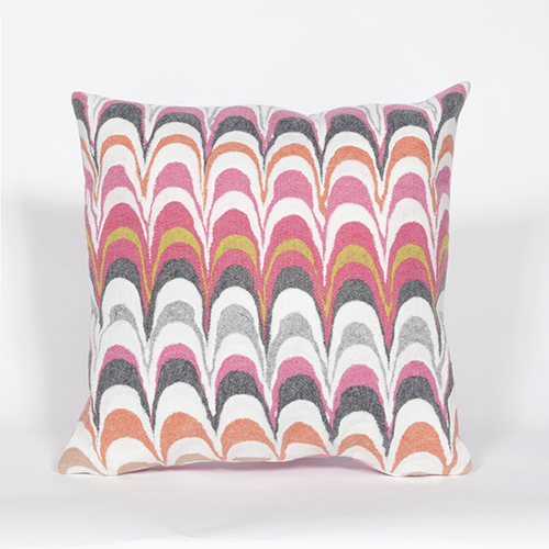 Trans Ocean Import Liora Manne Visions III Pink Square 20 In. Indoor/Outdoor Pillow