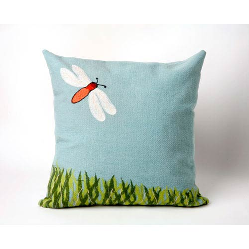 Trans Ocean Import Dragonfly Aqua Pillow