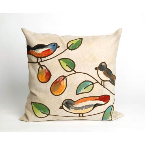 Trans Ocean Import Song Birds Cream Pillow