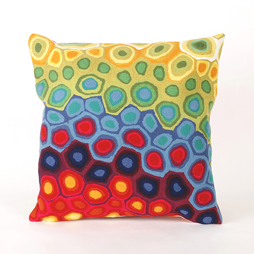 Liora Manne Visions III Red Square 20 In. Indoor/Outdoor Pillow