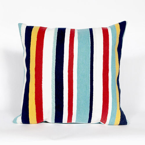 Liora Manne Visions III Multicolor Square 20 In. Indoor/Outdoor Pillow