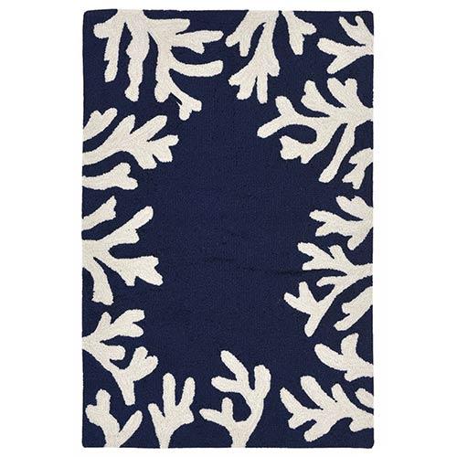 Trans Ocean Import Liora Manne Capri Blue Rectangular: 1 Ft. 7 In. x 2 Ft. 6 In. Indoor/Outdoor Rug