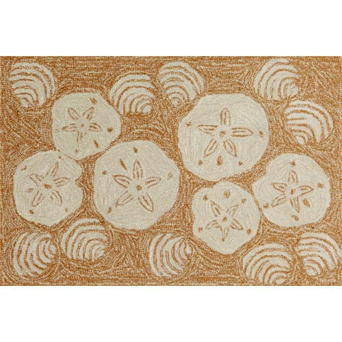 Trans Ocean Import Frontporch Shell Toss Natural Rectangular: 5 Ft. x 7 Ft. 6 In. Rug