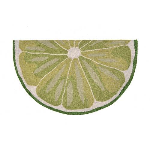 Trans Ocean Import Liora Manne Frontporch Green Slice: 1 Ft. 7 In. x 2 Ft. 6 In. Indoor/Outdoor Rug