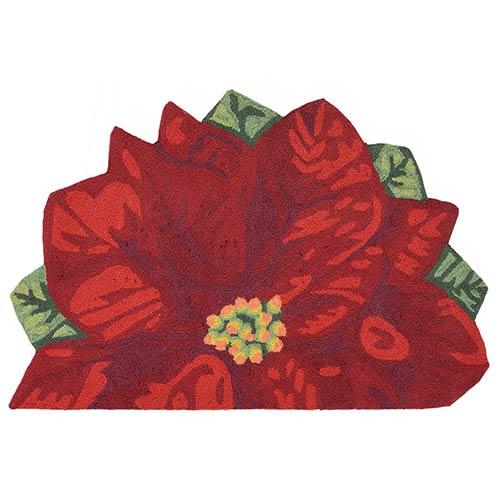 Liora Manne Frontporch Red Slice: 2 Ft. x 3 Ft. Indoor/Outdoor Rug