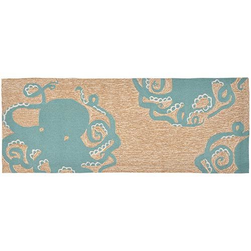 Liora Manne Frontporch Blue Runner: 2 Ft. x 5 Ft. Indoor/Outdoor Rug