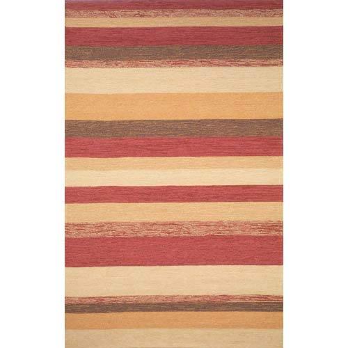 Trans Ocean Import Ravella Stripe Red Rectangular: 5 ft. x 7 ft. 6 In. Rug