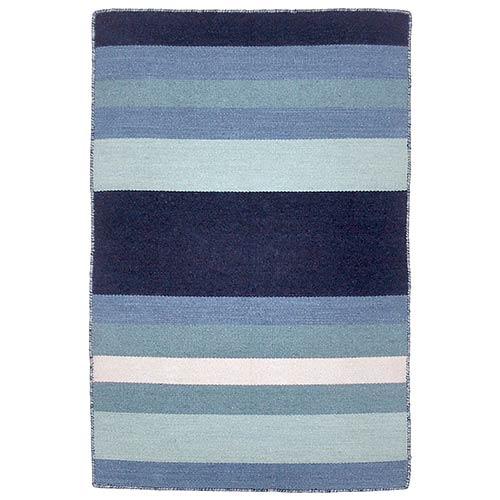 Liora Manne Sorrento Blue Rectangular: 2 Ft. x 3 Ft. Indoor/Outdoor Rug