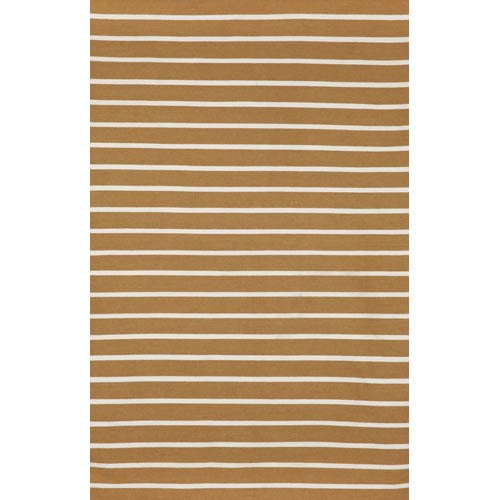 Trans Ocean Import Sorrento Pinstripe Khaki Rectangular: 5 Ft. x 7 Ft. 6 In. Indoor/Outdoor Rug