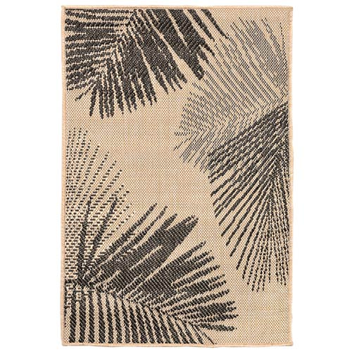 Liora Manne Terrace Natural Rectangular: 2 Ft. x 3 Ft. Indoor/Outdoor Rug