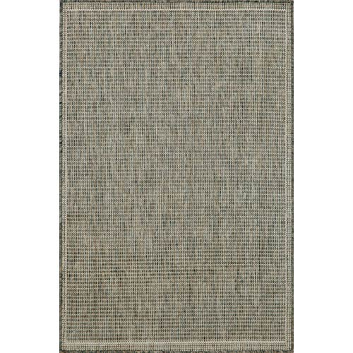 Trans Ocean Import Terrace Texture Silver/Ivory Rectangular: 4 Ft. 11 In. x 7 Ft. 6 In. Rug