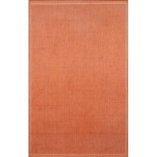 Terrace Texture Terra/Ivory Rectangular: 4 Ft. 11 In. x 7 Ft. 6 In. Rug