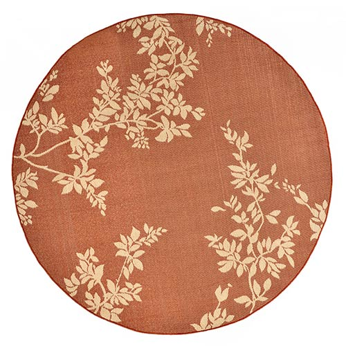 Liora Manne Terrace Rust Round: 7 Ft. 10 In. Indoor/Outdoor Rug