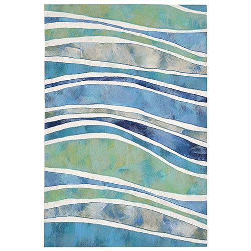 Trans Ocean Import Liora Manne Visions III Blue Rectangular: 2 Ft. x 3 Ft. Indoor/Outdoor Rug
