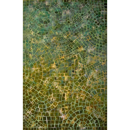 Trans Ocean Import Visions IV Arch Tile Lapis Indoor/Outdoor Rectangular: 5 Ft. x 8 Ft. Rug