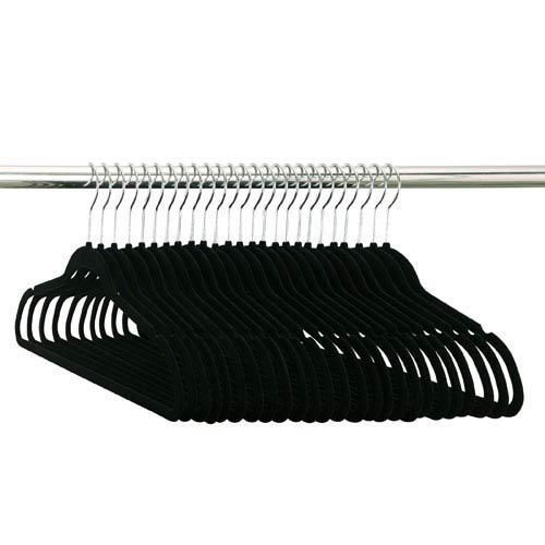 Organize It All Fifty Pack of Black Flocked Suit Hangers
