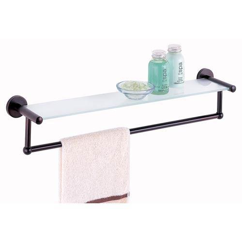 Organize It All Bath Set Of Four Glass Bath Shelves With Towel Bar