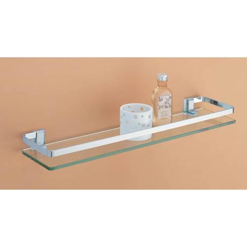 Organize It All Glass Shelf with Nickel Rail