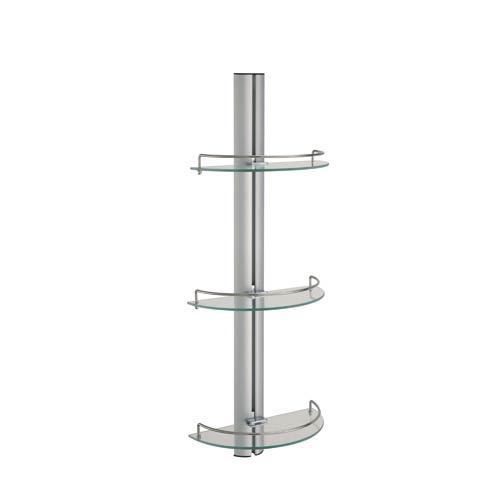 Aluminum Three-Tier Glass Shelf