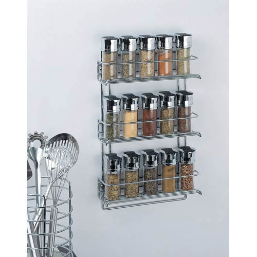 Organize It All Chrome Wall Mount Spice Rack