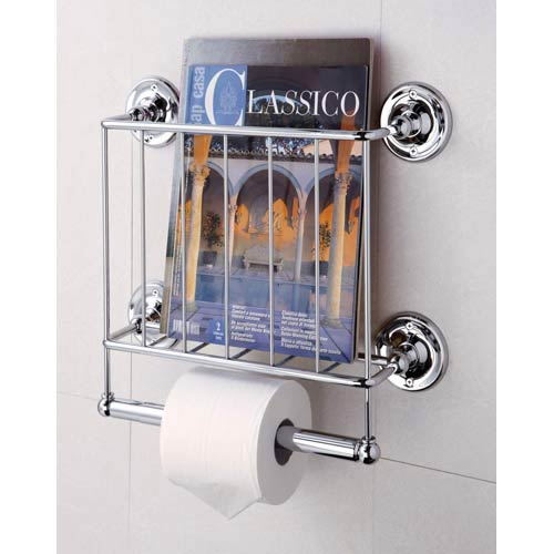Neu Home Bath Tissue Dispenser Magazine Rack, Chrome