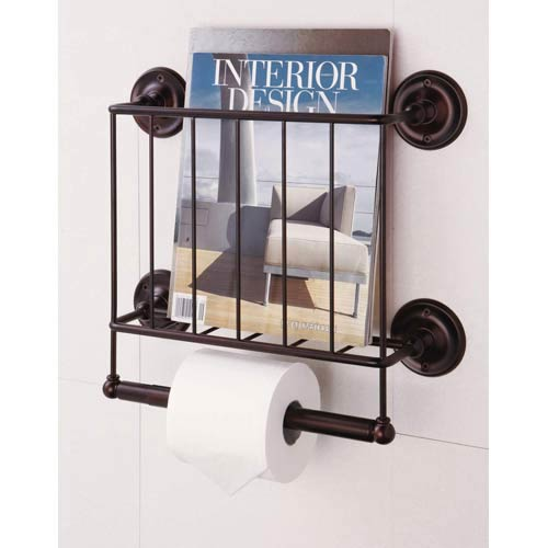 Organize It All Neu Home Bath Tissue Dispenser Magazine Rack, Oil-Rubbed Finish