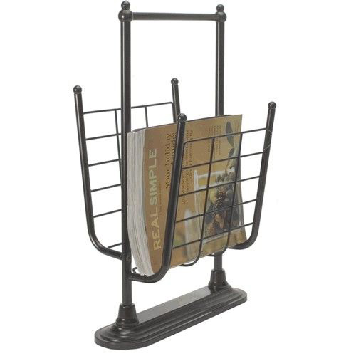 Oil Rubbed Bronze Free Standing Magazine Rack