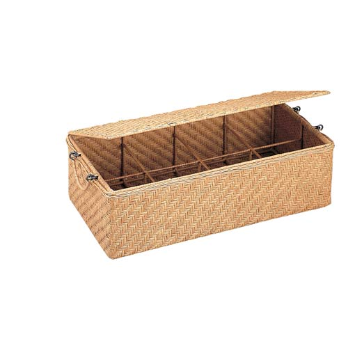 Wicker Double CD Basket