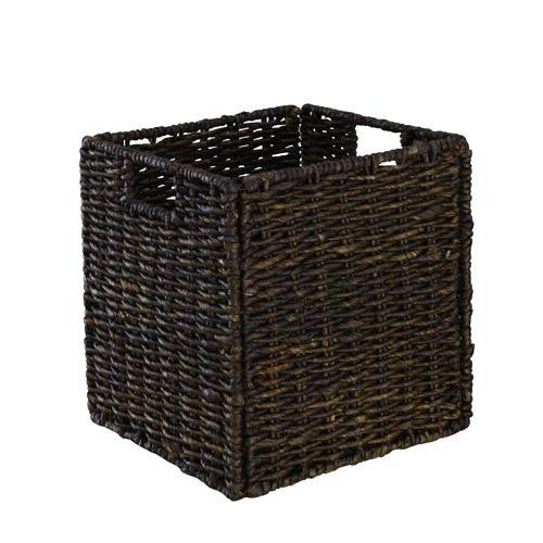 Dark Brown Maize Rope Basket