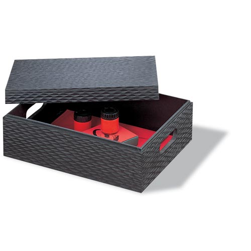 Charcoal Set of Six Document/Storage Boxes