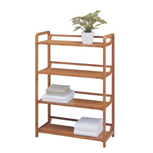 Bamboo Four-Tier Shelf