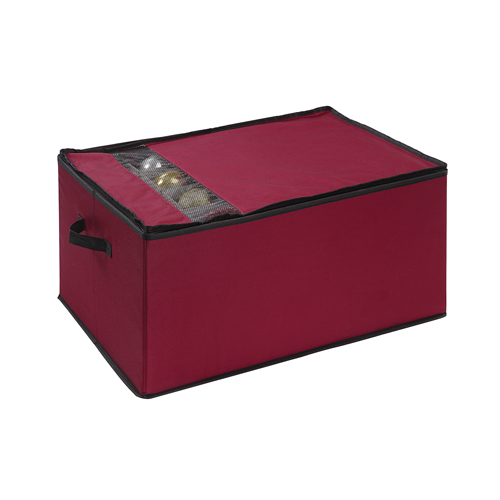 Red Christmas Ornament Storage Box