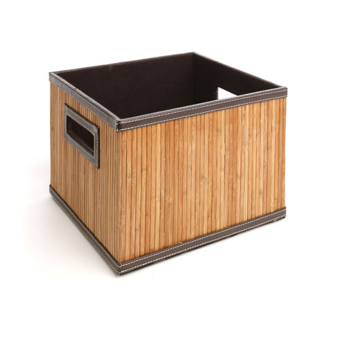 Organize It All Natural Large Bamboo Storage Crate