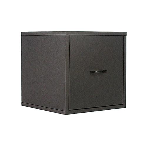 Organize It All Black Storage Drawer Cube