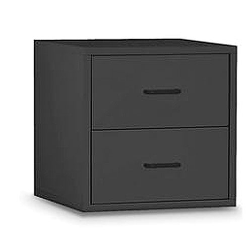 Black Two Drawer Cube